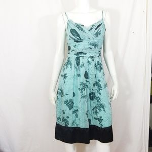 Elda Colezione silk & satin gorgeous floral dress
